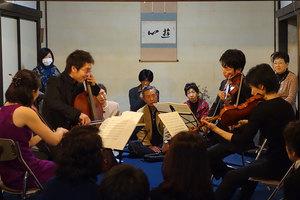 会場はメンデルスゾーンの弦楽四重奏曲で最高潮に。