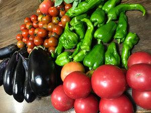 あけみさんの畑でとれた野菜たちも参加